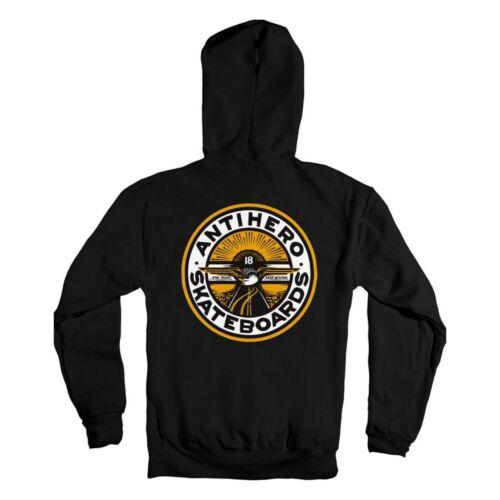 ANTIHERO Skateboards Stay Ready Black / Yellow / White Hoodie Sweatshirt