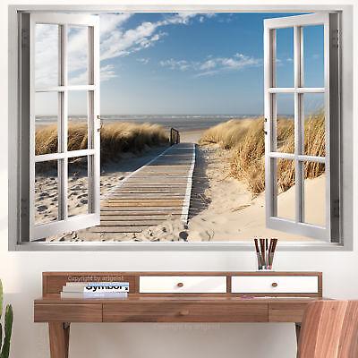 Designer Poster XXL ca. 140x100 cm laminiert Plakat Fensterblick – c-C-0179-af-a