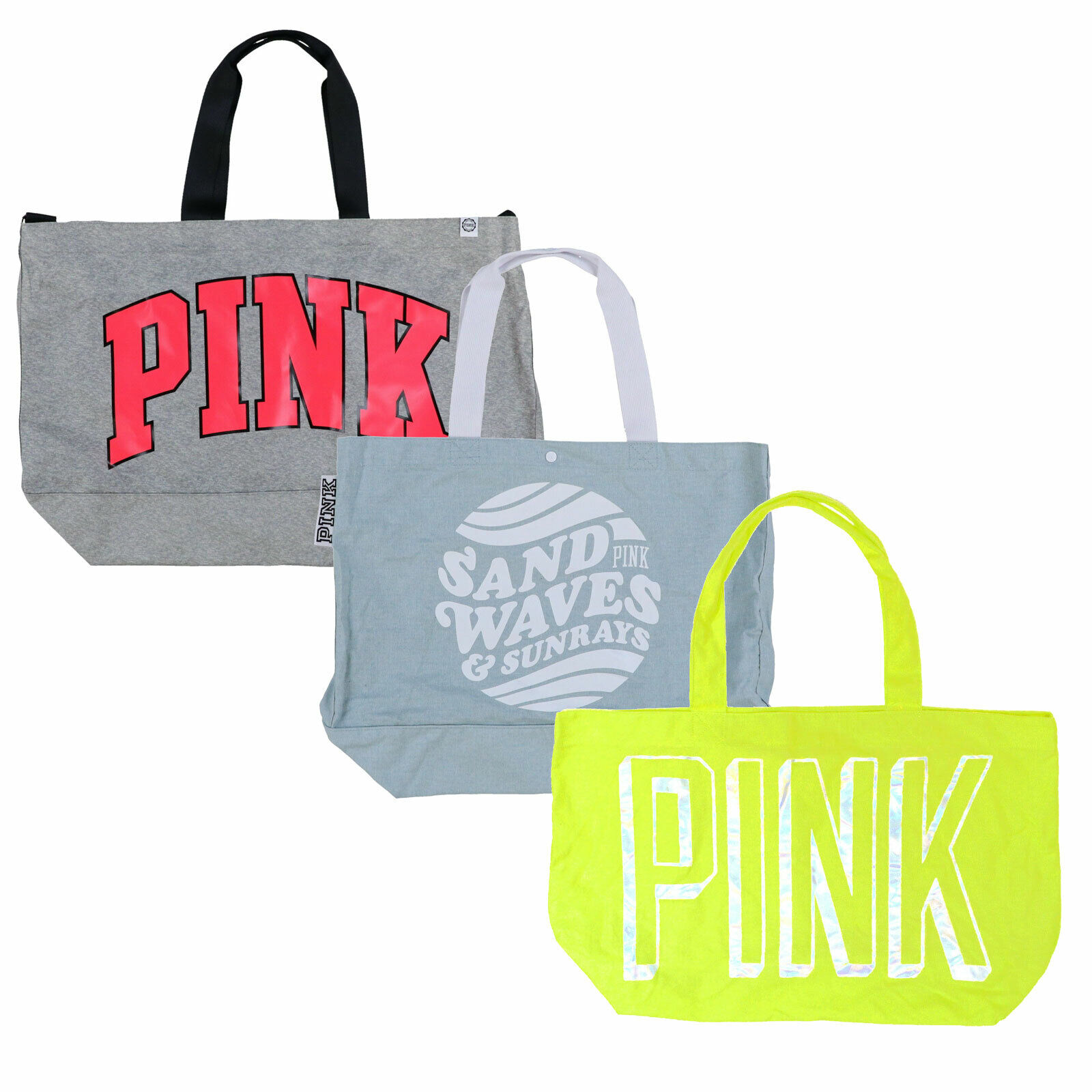 Victoria's Secret Pink Tote Bag Shopper Logo Carry All Trave