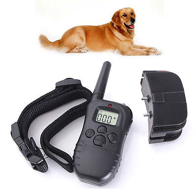 Rechargeable Dog Training Collar AntiBark with Remote Pet Trainer No Barking