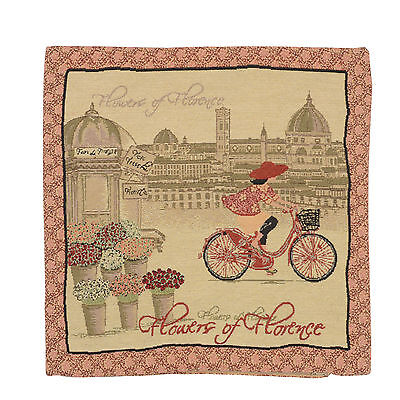 """Wholesale Job Lot 10x Cushion Covers Designer """"Bicycle"""" Tapestry 18"""" (45cm) New"""