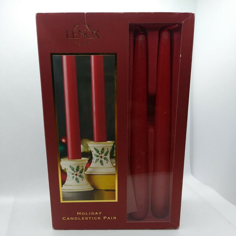 Lenox Christmas Mini Candle Holders Dimension Collection Open Box