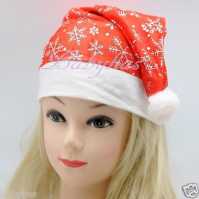 Costume Hats For Kids (12 Santa Claus Hats Christmas Costumes Plush Kids Play Winter Adults)
