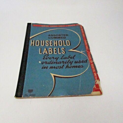 Vintage ESPCO EUREKA Household Labels Book General Labels 1930