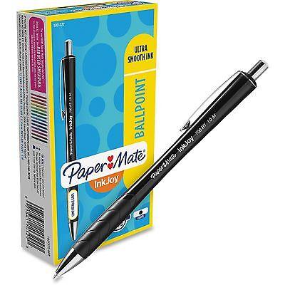 Paper Mate Inkjoy 700 Rt Retractable Ballpoint Pen 1mm Black Ink Black Barrel