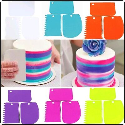 3 Teiliges Kuchenspachtel Kuchen Schaber Spachtel Teigschaber Teigkrarzer