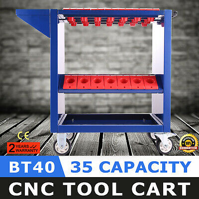 CNC Toolscoot Tool Cart for 40 Taper Tool Holders CAT40 BT40