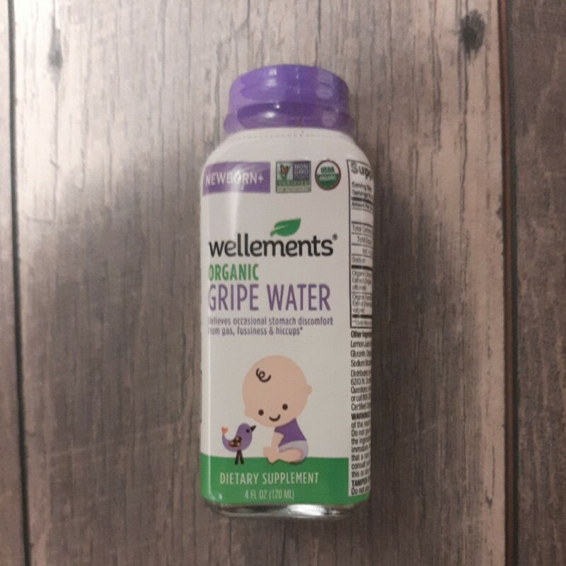 Wellements Organic Gripe Water for Tummy 4oz EXP: 08/2022 Newborn and up