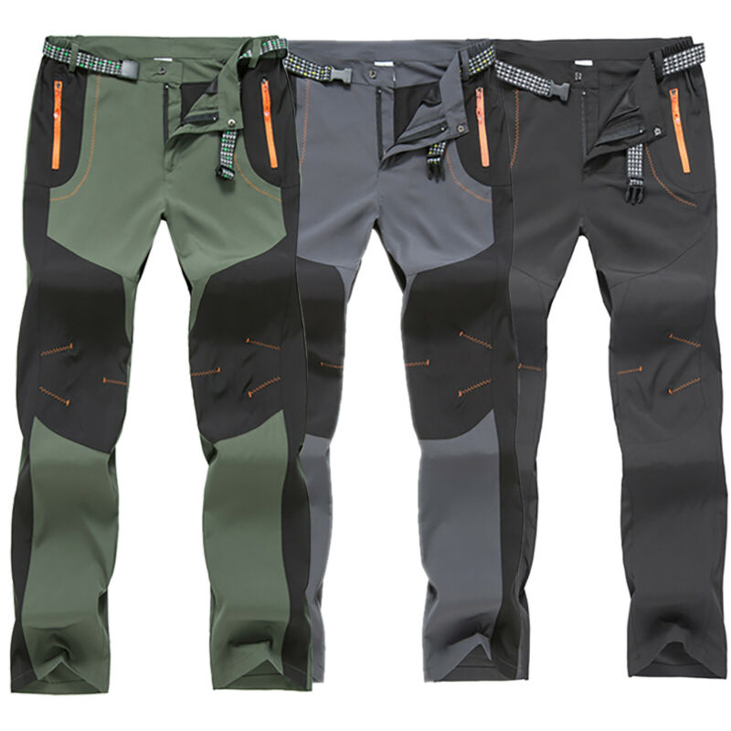 Men Tactical Trousers Waterproof Hiking Climbing Outdoor Com