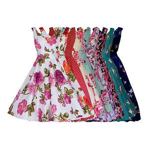 WOMENS-40s-50s-RETRO-VINTAGE-FLARED-ROCKABILLY-TEA-DRESS-MANY-PRINTS-NEW-8-28