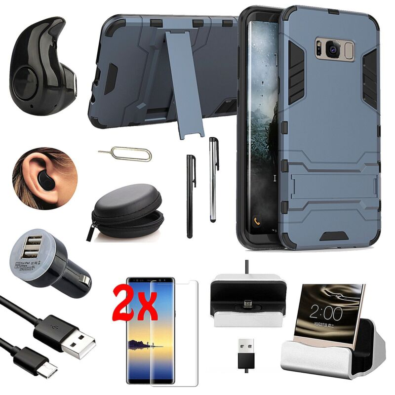 Black Kickstand Case Wireless Headset Accessory Bundle For Samsung Galaxy Note 9