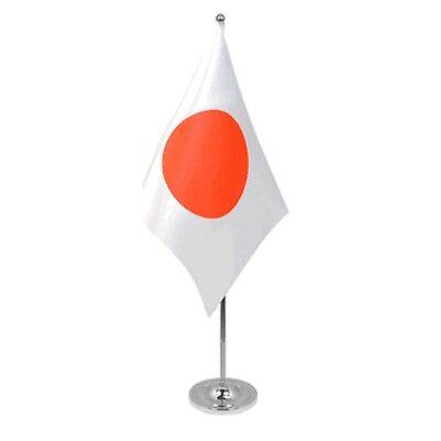 Japan Satin & Chrome Premium Table Flag
