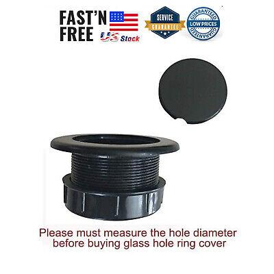 Patio Table Umbrella Thicker Hole Ring Plug and Cap Set (Black) Black Umbrella Hole Ring