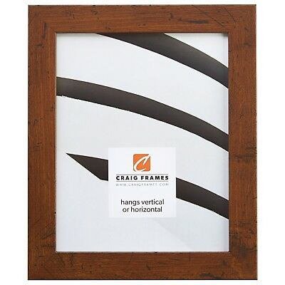 "Craig Frames 1.25"" Wide Distressed Rustic Brown Picture Fram"