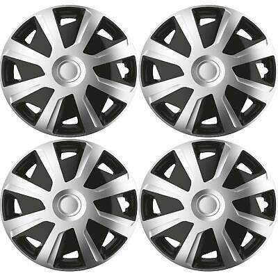 UKB4C 14 4 x Alloy Look Black /& Red VEC Multi-Spoke Wheel Trims Hub Caps Covers Protectors