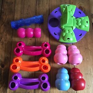 Kongs and food puzzle, $10 each or 9 for $75