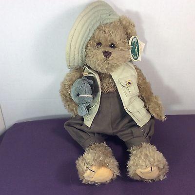 The Bearington Collection Plush Mack Earl Teddy Bear Fish Stuffed Animal Toy