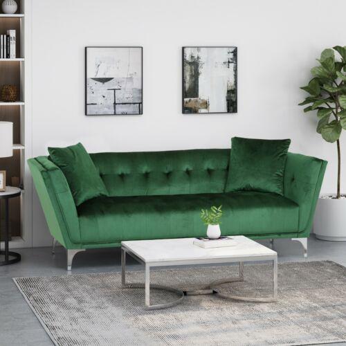Ryliegh Modern Glam 3 Seater Velvet Sofa Furniture