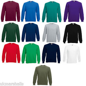 Fruit-of-the-Loom-Mens-Raglan-Sweatshirt-Sweater-Jumper