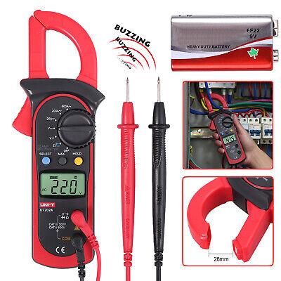 Digital Clamp Meter Tester Ac Dc Volt Amp Multimeter Ohm Tester Current 600a