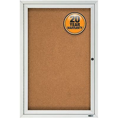 Quartet Enclosed Outdoor Bulletin Board 1-door 2x3 Aluminum Frame 2121