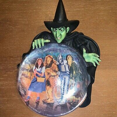 """The Bradford Exchange Wizard of Oz """"Haunted Forest"""" 3D Plate 2002 Witch"""