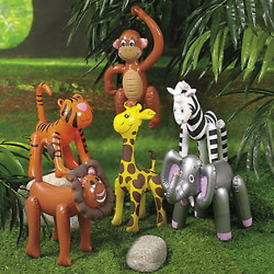 6 SAFARI ANIMAL INFLATABLE DECORATIONS 16