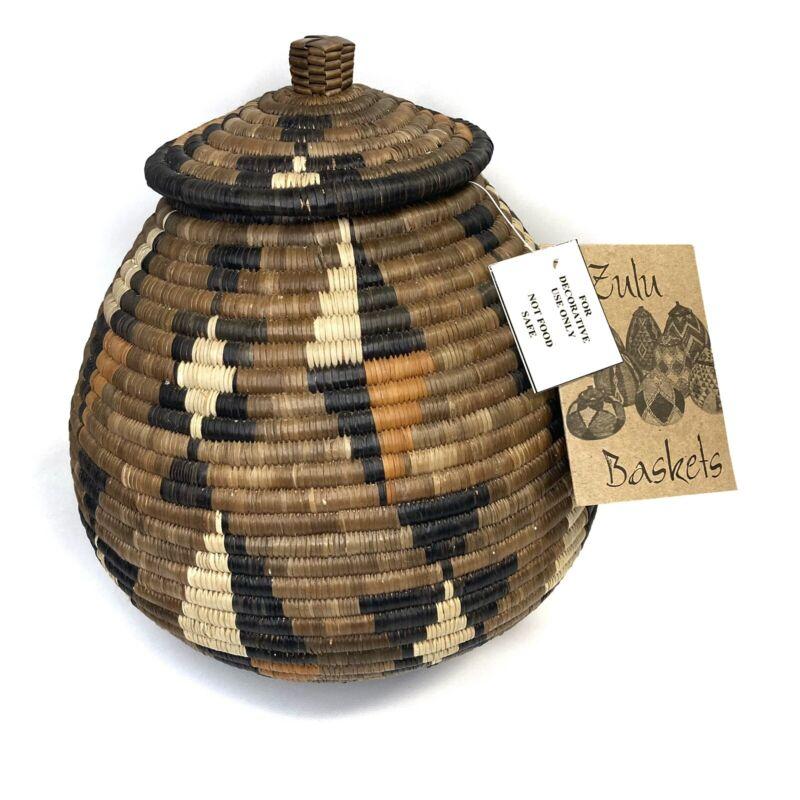 "African Zulu Large Beer Basket new (10.5"" x 11"")"