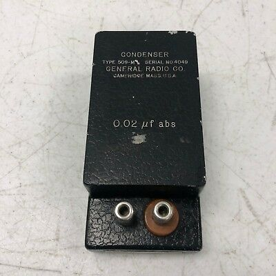 General Radio 509-m Standard Capacitor Tested Working Rare
