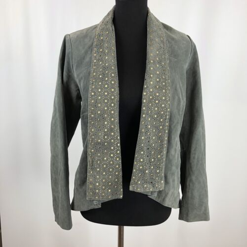 Iman Size S Small Platinum Collection Gray Suede L