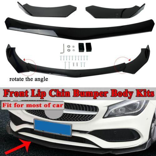 Universal Front Bumper Lip Body Kit Spoiler For GMC Honda Civic BMW Benz Mazda