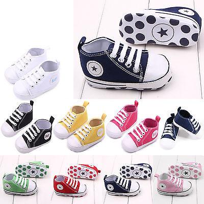 Canvas Shoes Black Baby Boy Toddler Kids Soft Sneaker Infant Sole Hot Girl - Black Baby Girl