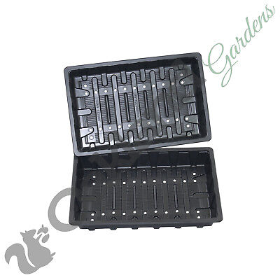 100 x Full Size Heavyweight Seed Trays Water Propagator With Holes Flexible