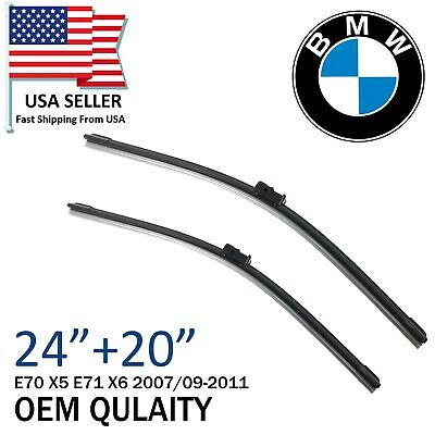 Top Quality For BMW E70 X5 E71 X6 Front Windshield Wiper Blade Set 2007/09-2011