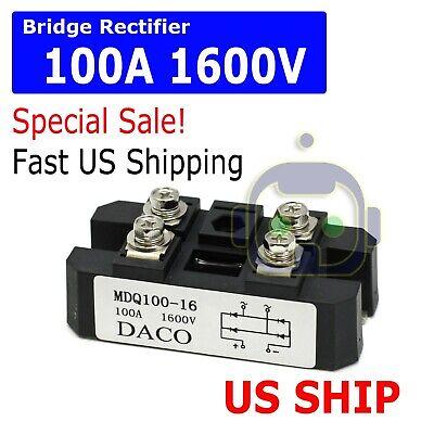 4 Terminals Single-phase Diode Bridge Rectifier Mdq 100a Amp High Power 1600v