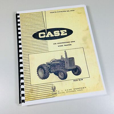 J I Case 530 Construction King Ck Wheel Tractor Parts Catalog Manual No. C91o