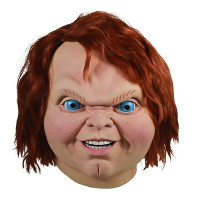 Adult Child's Play 2 Evil Chucky Latex Costume Full Mask Horror Scary - Scary Halloween Kids Costumes