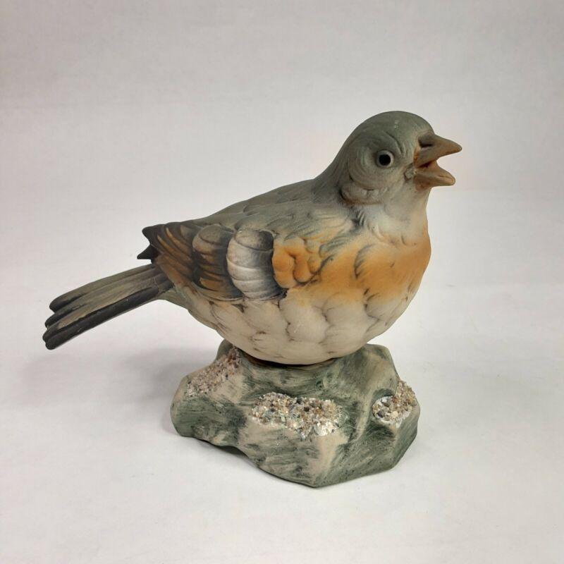"Vtg Ceramic Robin Female Figurine 5"" Tall"