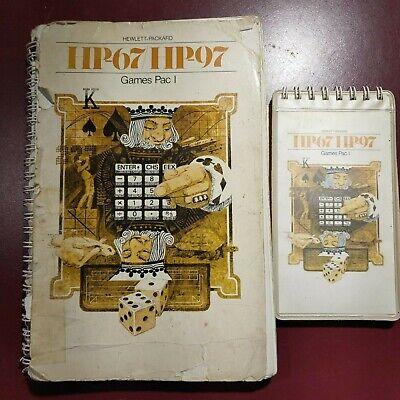 GAMES Pac for Vintage HP67/97 series Calculators w/Manual