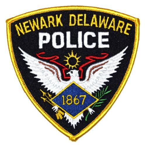 NEWARK DELAWARE DE Police Sheriff Patch SILVER EAGLE 1867 VINTAGE OLD ~