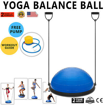 "New 23"" Yoga Half Ball Balance Trainer Fitness Strength Exer"