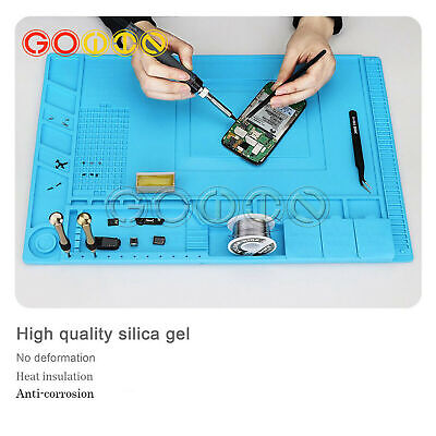 Anti Static Magnetic Heat Insulation Silicone Pad Desk Mat For Solder Repair Pad
