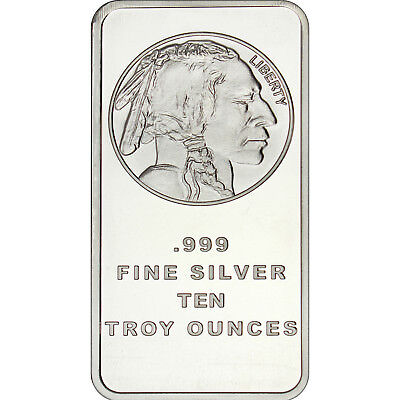 American Buffalo 10 oz .999 Fine Silver Bar by SilverTowne