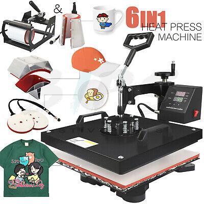 6 In 1 15 X15 Combo Heat Press Machine Digital Transfer Sublimation Swing Away