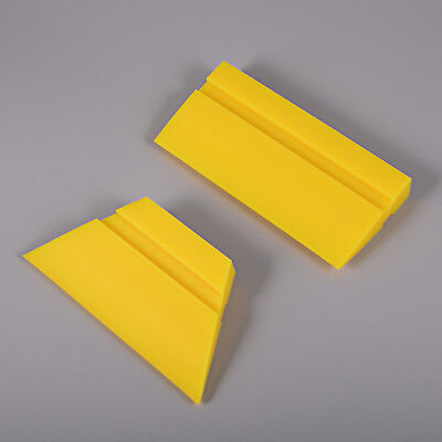 2 Pcs Rubber Squeegee Yellow Turbo Wiper Car Vinyl Wrapping Application Tools