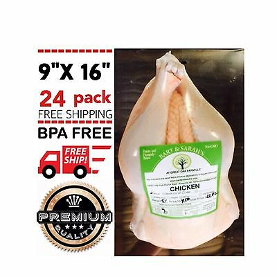 Poultry Shrink Bags 9 X 16 Chicken Duck Processing Bpa Free Freezer Safe