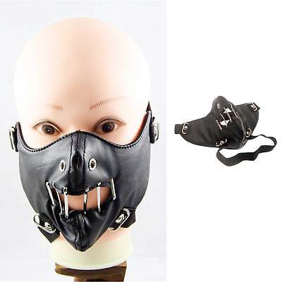 DARK IN LOVE Hannibal Leder Maske Horror Halloween Psycho Maske Leather Mask ()