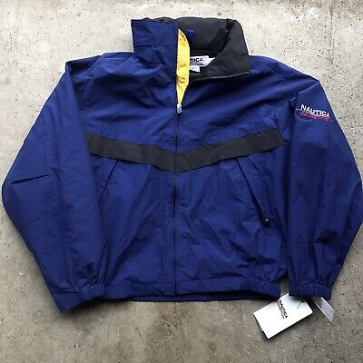Vintage Nautica Competition Spell Out Windbreaker Jacket Medium NWT New 90s