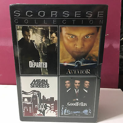 SCORSESE COLLECTION DVD BOX SET - DEPARTED - AVIATOR - GOODFELLAS - MEAN (Aviator Means)