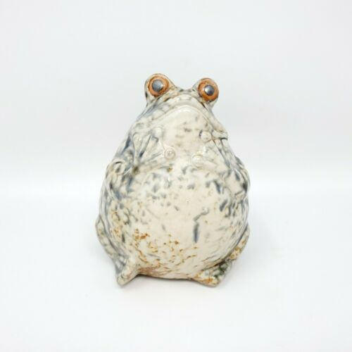 Ceramic Frog Artist Studio Created  Pottery